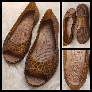 CROCS Cheetah Print Flats